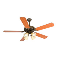 Craftmade K10634 Pro Builder 204 52 inch Aged Bronze Textured with Cherry Blades Ceiling Fan Kit in Contractor Standard, Blades Included