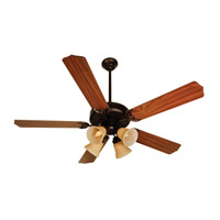 Craftmade K10635 Pro Builder 204 52 inch Oiled Bronze with Walnut Blades Ceiling Fan Kit in Contractor Standard, Blades Included
