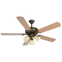 Craftmade K10639 Pro Builder 206 52 inch Aged Bronze Textured with Washed Walnut Birch Blades Ceiling Fan Kit in Contractor Plus Washed Walnut Birch