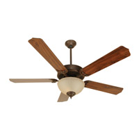 Craftmade K10647 Pro Builder 208 52 inch Aged Bronze Textured with Walnut Blades Ceiling Fan Kit in Contractor Standard, Blades Included