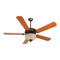 Craftmade K10650 Pro Builder 208 52 inch Oiled Bronze with Cherry Blades Ceiling Fan Kit in Contractor Standard, Blades Included