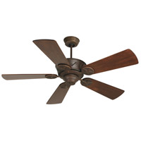 Chaparral 52 inch Aged Bronze Textured with Distressed Walnut Blades Ceiling Fan With Blades Included in Solid Wood Blades, Premier, Light Kit Sold Separately