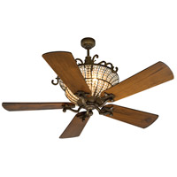 Cortana 52 inch Peruvian Bronze with Hand-Scraped Oak Blades Ceiling Fan With Blades Included in Solid Wood Blades, Premier, 3