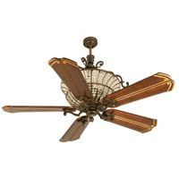 Cortana 56 inch Peruvian Bronze with Walnut Blades Ceiling Fan Kit, Blades Included
