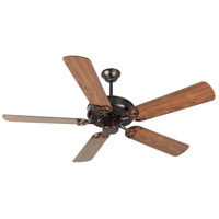 Craftmade K10678 Cxl 52 inch Oiled Bronze with Walnut Blades Ceiling Fan Kit in Light Kit Sold Separately, Plus Walnut, Blades Included