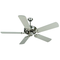 Craftmade K10679 CXL 52 inch Brushed Polished Nickel with Brushed Nickel Blades Ceiling Fan Kit in MDF Blades, Contractor Plus, 0, Stainless Steel, Light Kit Sold Separately, Blades Included