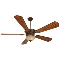 Craftmade K10684 Dc Epic 70 inch Aged Bronze Textured with Scalloped Walnut Blades Ceiling Fan Kit in Custom Carved Scalloped Walnut, Outdoor Tea-Stained Glass