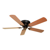 Pro Contemporary Flushmount 52 inch Oiled Bronze with Washed Walnut Birch Blades Ceiling Fan With Blades Included in Contractor Plus, Light Kit Sold Separately