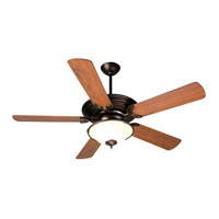 Metro 52 inch Oiled Bronze with Walnut Blades Ceiling Fan With Blades Included in MDF Blades, Contractor Plus, 0, Antique Scavo Glass