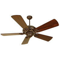 Craftmade K10725 Ophelia 54 inch Aged Bronze and Vintage Madera with Distressed Walnut Blades Ceiling Fan Kit in Light Kit Sold Separately, Premier, 0, Solid Wood Blades, Blades Included