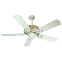 Ophelia 52 inch Antique White Distressed with Antique White Blades Ceiling Fan With Blades Included in MDF Blades, Standard, 0, Light Kit Sold Separately