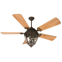 Olivier 70 inch Aged Bronze Textured with Distressed Oak Blades Ceiling Fan With Blades Included in Premier