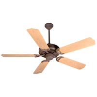 Porch Fan 52 inch Rustic Iron with Light Oak Blades Outdoor Ceiling Fan With Blades Included in Outdoor Standard, 0, Light Kit Sold Separately