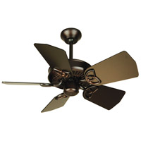 Piccolo 30 inch Oiled Bronze Ceiling Fan With Blades Included in Light Kit Sold Separately