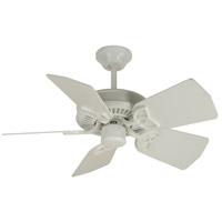 Craftmade K10743 Piccolo 30 inch White Ceiling Fan Kit in Light Kit Sold Separately