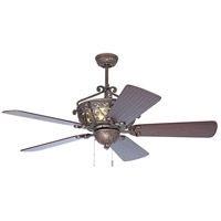 Craftmade K10765 Toscana 54 inch Peruvian Bronze with Hand-Scraped Walnut Blades Ceiling Fan Kit in Light Kit Sold Separately, Premier, Solid Wood Blades, Blades Included