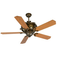 Craftmade K10766 Toscana 52 inch Peruvian Bronze with Walnut Blades Ceiling Fan Kit in Light Kit Sold Separately, Custom Wood Walnut, Blades Included