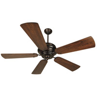 Craftmade K10772 Townsend 54 inch Oiled Bronze with Distressed Walnut Blades Ceiling Fan Kit in Light Kit Sold Separately, Premier Distressed Walnut