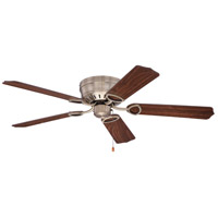 Craftmade K10776 Pro Universal 52 inch Antique Brass with Walnut Blades Hugger Ceiling Fan Kit in Light Kit Sold Separately, Custom Wood Walnut