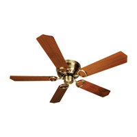 Craftmade K10776 Pro Universal 52 inch Antique Brass with Walnut Blades Hugger Ceiling Fan Kit in Contractor Standard, Light Kit Sold Separately, Blades Included