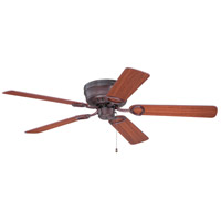 Craftmade K10778 Pro Universal 52 inch Oiled Bronze with Cherry Blades Hugger Ceiling Fan Kit in Light Kit Sold Separately, Plus Cherry/Rosewood