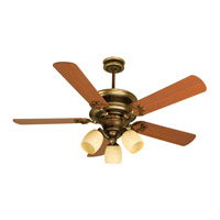 Woodward 52 inch Dark Coffee and Vintage Madera with Washed Walnut Birch Blades Ceiling Fan Kit in MDF Blades, Contractor Plus, Antique Scavo Glass, Blades Included