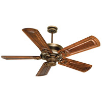 Woodward 52 inch Dark Coffee and Vintage Madera with Oak/Walnut Blades Ceiling Fan With Blades Included in Woodward Oak/Walnut, Solid Wood Blades, Custom Carved, Light Kit Sold Separately