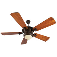Craftmade Amphora 1 Light Ceiling Fan With Blades Included in Peruvian Bronze K10799