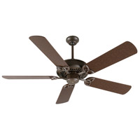 Craftmade K10811 American Tradition 52 inch Aged Bronze Textured with Aged Bronze Blades Ceiling Fan Kit in MDF Blades, Contractor Plus, 0, Light Kit Sold Separately, Blades Included