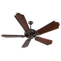 Craftmade K10816 American Tradition 56 inch Aged Bronze Textured with Classic Ebony Blades Ceiling Fan Kit in Light Kit Sold Separately, Custom Carved, 0, Solid Wood Blades, Blades Included