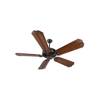 Craftmade K10817 American Tradition 56 inch Aged Bronze Textured with Oak with Aged Bronze Accents Blades Ceiling Fan Kit in Light Kit Sold Separately, Custom Carved, Chamberlain Oak with Aged Bronze Accents, 0, Solid Wood Blades, Blades Included