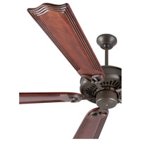 Craftmade K10818 American Tradition 56 inch Aged Bronze Textured with Mahogany Blades Ceiling Fan Kit in Light Kit Sold Separately, Custom Carved, Wellington Mahogany, 0, Solid Wood Blades, Blades Included alternative photo thumbnail