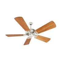 Craftmade K10821 American Tradition 54 inch Antique White with Distressed Oak Blades Ceiling Fan Kit in Light Kit Sold Separately, Premier, 0, Solid Wood Blades, Blades Included