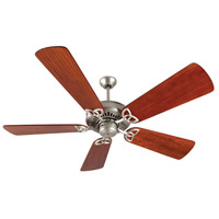 Craftmade K10829 American Tradition 54 inch Brushed Satin Nickel with Hand-Scraped Cherry Blades Ceiling Fan Kit in Light Kit Sold Separately, Premier, 0, Solid Wood Blades, Blades Included