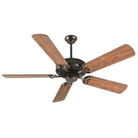 Craftmade K10832 American Tradition 52 inch Oiled Bronze with Walnut Blades Ceiling Fan Kit in MDF Blades, Contractor Plus, 0, Light Kit Sold Separately, Blades Included