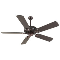 Craftmade K10833 American Tradition 52 inch Oiled Bronze Ceiling Fan Kit in MDF Blades, Contractor Plus, 0, Light Kit Sold Separately, Blades Included