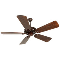 Craftmade K10835 American Tradition 54 inch Oiled Bronze with Hand-Scraped Walnut Blades Ceiling Fan Kit in Light Kit Sold Separately Custom Carved