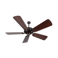 Craftmade K10836 American Tradition 54 inch Oiled Bronze with Distressed Walnut Blades Ceiling Fan Kit in Light Kit Sold Separately, Premier, 0, Solid Wood Blades, Blades Included