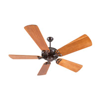 American Tradition 52 inch Oiled Bronze with Hand-Scraped Teak Blades Ceiling Fan With Blades Included in Solid Wood Blades, Premier, 0, Light Kit Sold Separately