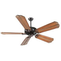 Craftmade K10839 American Tradition 56 inch Oiled Bronze with Oak with Aged Bronze Accents Blades Ceiling Fan Kit in Light Kit Sold Separately, Custom Carved, Chamberlain Oak with Aged Bronze Accents, 0, Solid Wood Blades, Blades Included