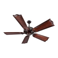 Craftmade K10840 American Tradition 56 inch Oiled Bronze with Mahogany Blades Ceiling Fan Kit in Light Kit Sold Separately, Custom Carved, Wellington Mahogany, 0, Solid Wood Blades, Blades Included