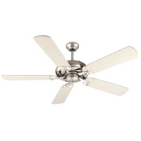 Craftmade K10851 Civic 52 inch Brushed Satin Nickel with Brushed Nickel Blades Ceiling Fan Kit in MDF Blades, Contractor Plus, 0, Light Kit Sold Separately, Blades Included