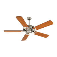 Craftmade K10853 Civic 52 inch Brushed Satin Nickel with Reversible Cherry and Rosewood Blades Ceiling Fan Kit in Reversible Cherry/Rosewood, MDF Blades, Contractor Plus, 0, Light Kit Sold Separately, Blades Included