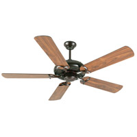 Craftmade K10854 Civic 52 inch Oiled Bronze with Walnut Blades Ceiling Fan Kit in MDF Blades, Contractor Plus, 0, Light Kit Sold Separately, Blades Included