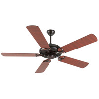 Craftmade K10855 Civic 52 inch Oiled Bronze with Rosewood Blades Ceiling Fan Kit in MDF Blades, Contractor Plus, 0, Light Kit Sold Separately, Blades Included
