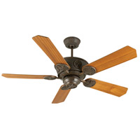 Chaparral 52 inch Aged Bronze Textured with Teak Blades Ceiling Fan With Blades Included in Plywood Blades, Custom Wood, Light Kit Sold Separately