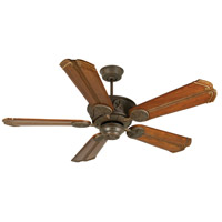 Craftmade K10873 Chaparral 56 inch Aged Bronze Textured with Oak with Aged Bronze Accents Blades Ceiling Fan Kit in Light Kit Sold Separately, Custom Carved, Chamberlain Oak with Aged Bronze Accents, Solid Wood Blades, Blades Included