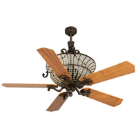 Craftmade K10875 Cortana 52 inch Peruvian Bronze with Walnut Blades Ceiling Fan Kit in Plywood Blades, Custom Wood, 3, Blades Included