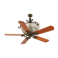 Cortana 52 inch Peruvian Bronze with Cherry Blades Ceiling Fan With Blades Included in MDF Blades, Custom Wood, 3