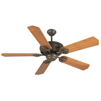 Craftmade K10900 Cordova 52 inch Aged Bronze Textured with Walnut Blades Ceiling Fan Kit in Plywood Blades, Custom Wood, Light Kit Sold Separately, Blades Included